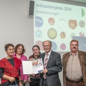 Inklusionspreis 2014 des Bezirks Oberbayern – Anerkennung für Trialogische Arbeitsgemeinschaft EX-IN